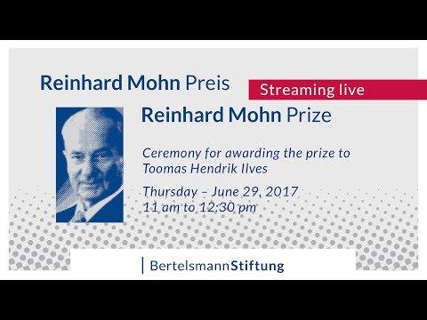 Live-Recording of the Reinhard Mohn Prize 2017 award ceremony