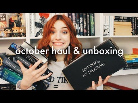 October Book Haul & Unboxing 2017