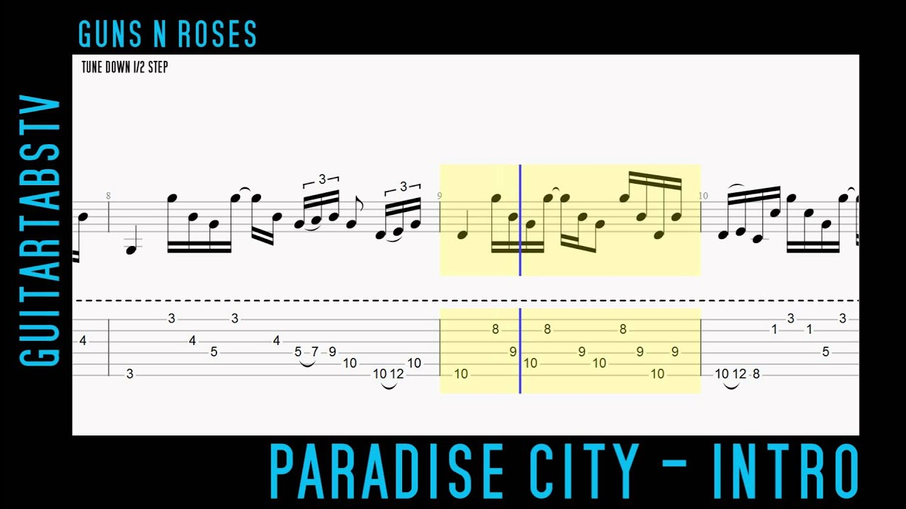 How To Play Paradise City