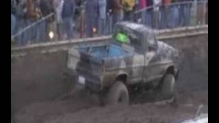 M&W Hauling Mud Truck Jumping Run Creek Mud Bogs 3-09