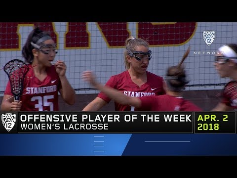 Stanford's Ali Baiocco named Pac-12 lacrosse Offensive Player of the Week