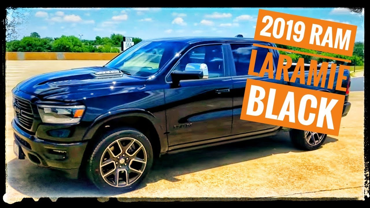 the all new 2019 ram laramie black