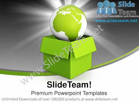 Green Planet Environment Globe PowerPoint Templates ppt Themes 1012 Slides Backgrounds