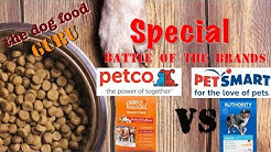 Petco's Whole Hearted vs Petsmart's Authority dog food mashup
