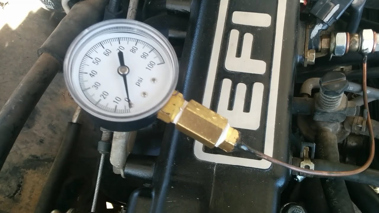 diy fuel rail pressure gauge 22re toyota  [ 1280 x 720 Pixel ]