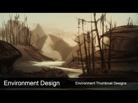 Environment Design - Thumbnail Concept Design for Landscapes