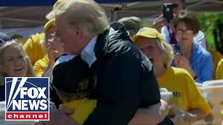 North Carolina boy asks President Trump for a hug