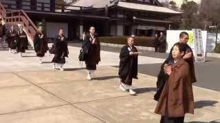東京歴史散歩ー徳川家康の菩提寺、・増上寺(東京港区)、法要なのか僧...