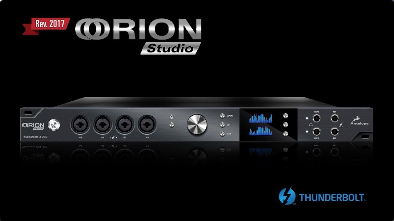 Orion Studio 2017 Thunderbolt and USB Audio Interface