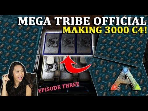 3000 C4! - Mega Tribe Survival - Official PvP Server - Ark: Survival Evolved