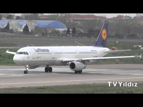 Lufthansa Airbus A321 Take Off at Istanbul Atatürk Airport