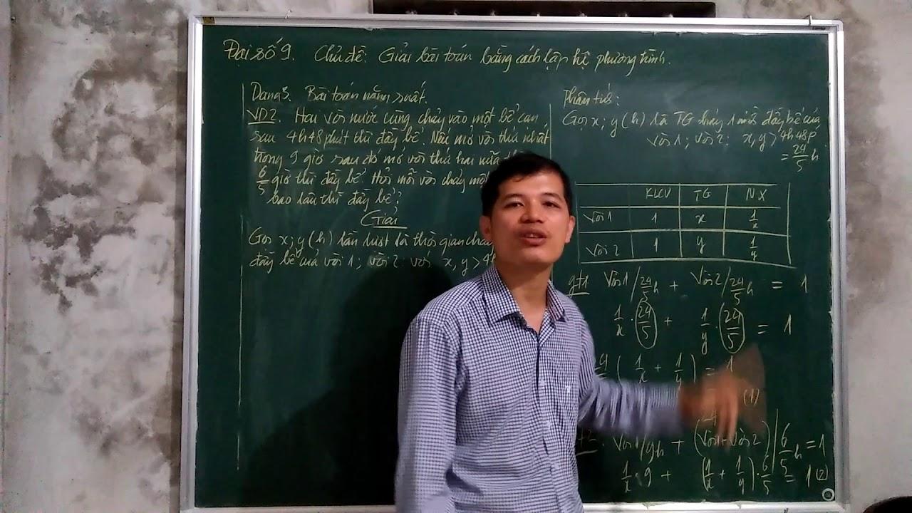Đại số 9. Chủ đề. Giải bài toán bằng cách lập hệ phương trình ( phần 5)