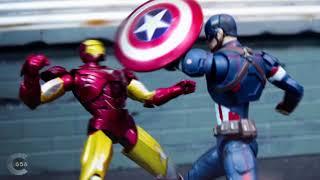 Avengers stop motion - Iron man VS Captain America