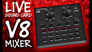 V8 Live Sound Card | Cheap Voice Changer, Effects & Canned Sound Mixer | OBS Setup, Demo & Review screenshot 3