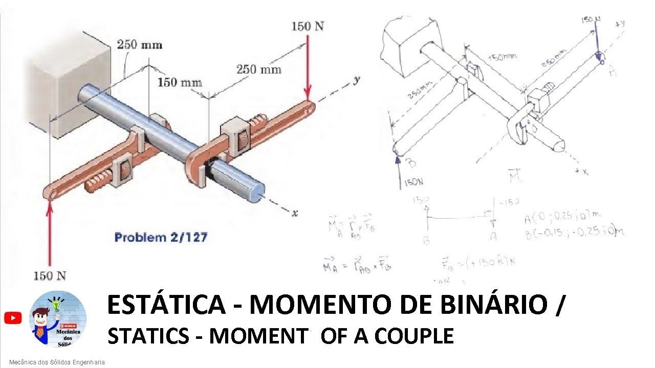 Momento de Binário (5) - Mecânica dos Sólidos