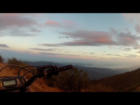 Lake Elsinore to Santiago Peak on crf450x in 50 minutes via north main divide and holy jim trail