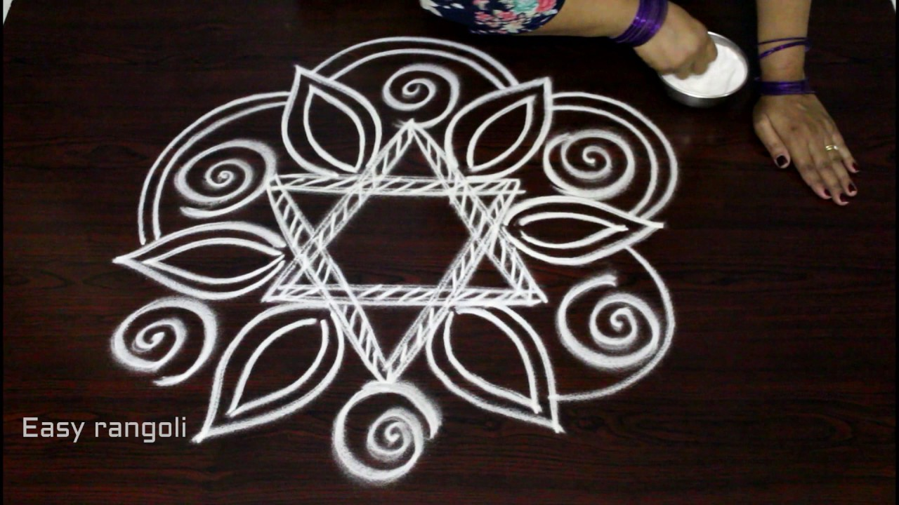Freehand rangoli designs without dots