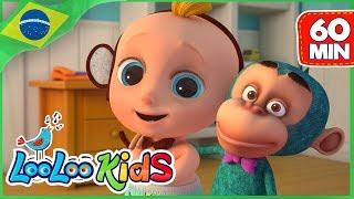 Cinco Macaquinhos (Five Little Monkeys) - Canções Para Crianças - LooLoo Kids Português
