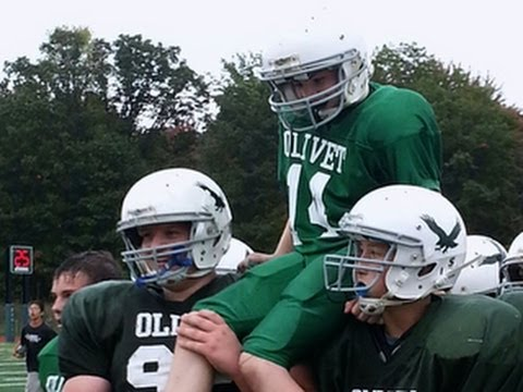 On the Road: Middle school football players execute life-changing play