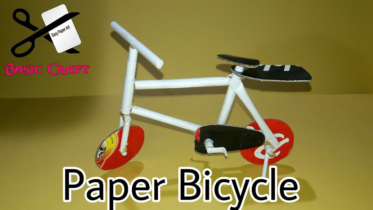 DIY - How To Make Paper Bicycle | Paper Cycle For Kids | Small Cycle Toy