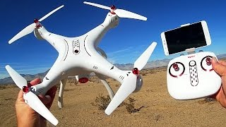 Syma X8SW Large Altitude Hold FPV Drone Flight Test Review