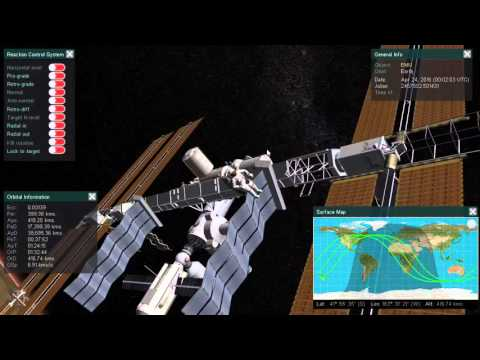 ISS hit by asteroid - Aether Space orbital mechanics simulation