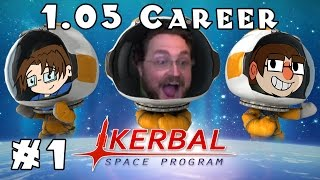 Kerbal Space Program | 1.05 Career! | Ep #1 -- Tiny Steps!