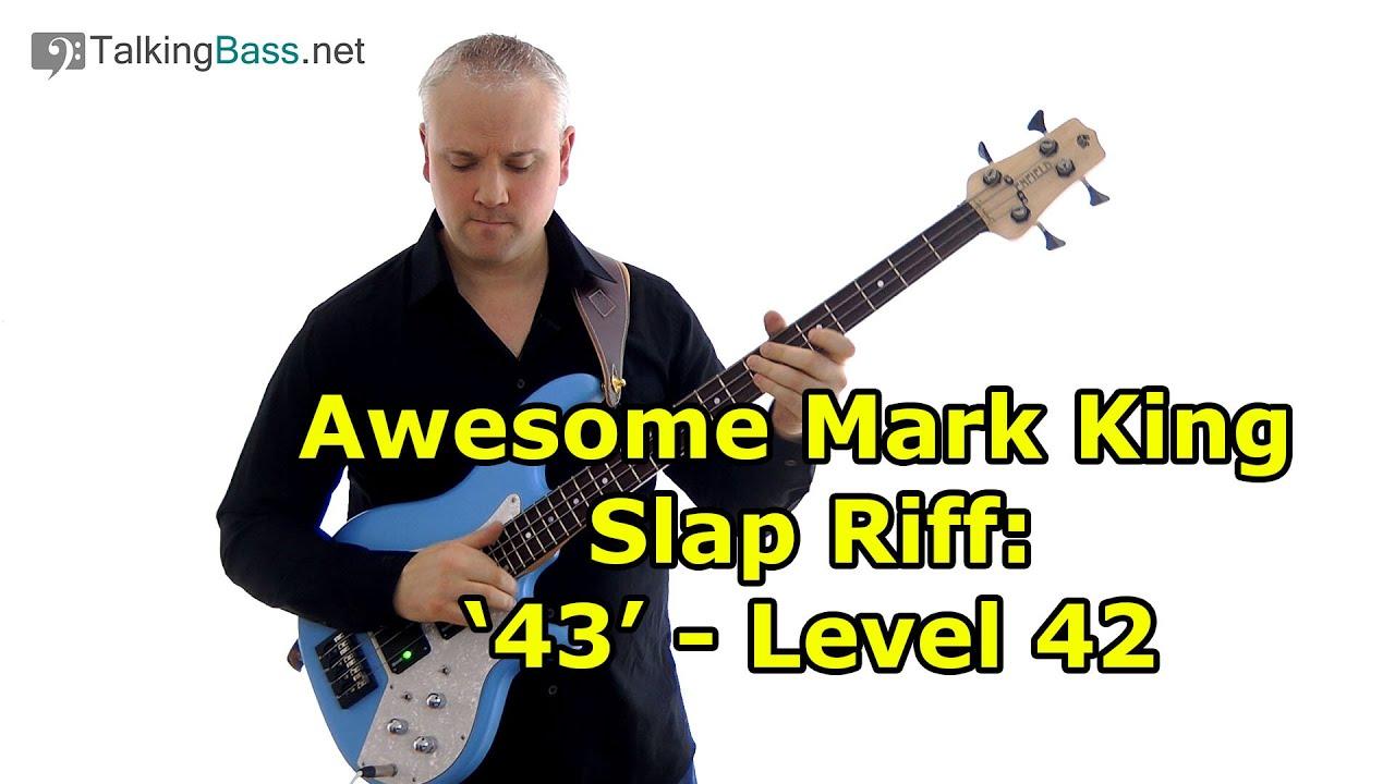 awesome mark king slap bass riff 43 youtube