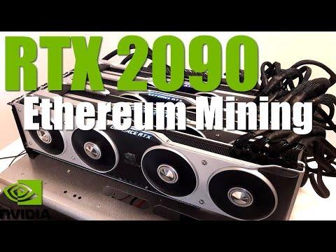 Nvidia RTX 2090 Ethereum Crypto Mining Performance