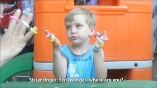 """The Finger Family \ Пальчиковая игра-песенка """"Семья пальчиков"""""""