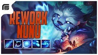 REWORK NUNU GAMEPLAY - MUITO CONTROLE DE GRUPO E MUITO MAIS DIVERTIDO - League of Legends - Fiv5