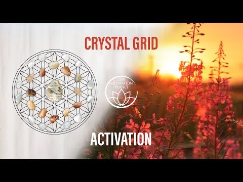 Crystal Grid Activation Music - Clear and Charge Gemstones, Energy Healing