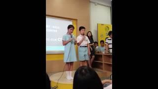 天主教石鐘山紀念小學,學生英語示範