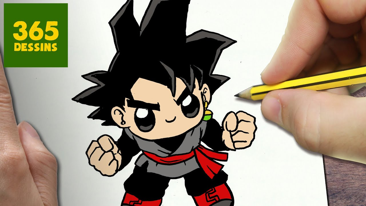 Comment dessiner goku black kawaii tape par tape - Dessin facile de dragon ...
