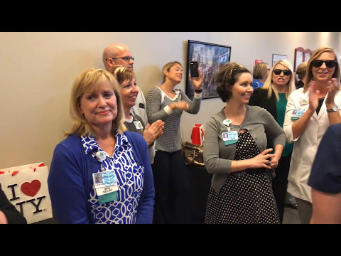 Honoring Nurse VP Susan Brown - Surprise Mob Dance