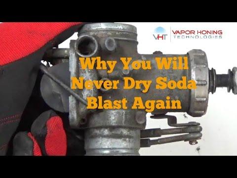 Wet Soda Blasting A Motorcycle Carburetor- Vapor Honing Technologies
