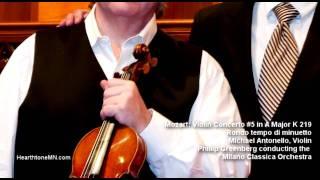 Mozart violin concerto 5 a major Rondo tempo di minuetto