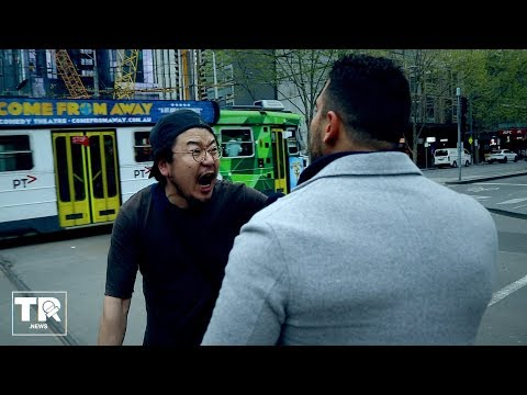 WATCH What Made This Chinese Man Go Absolutely Crazy in Melbourne Yesterday