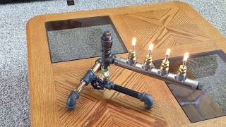 DIY Steampunk Industrial style Oil Lamp