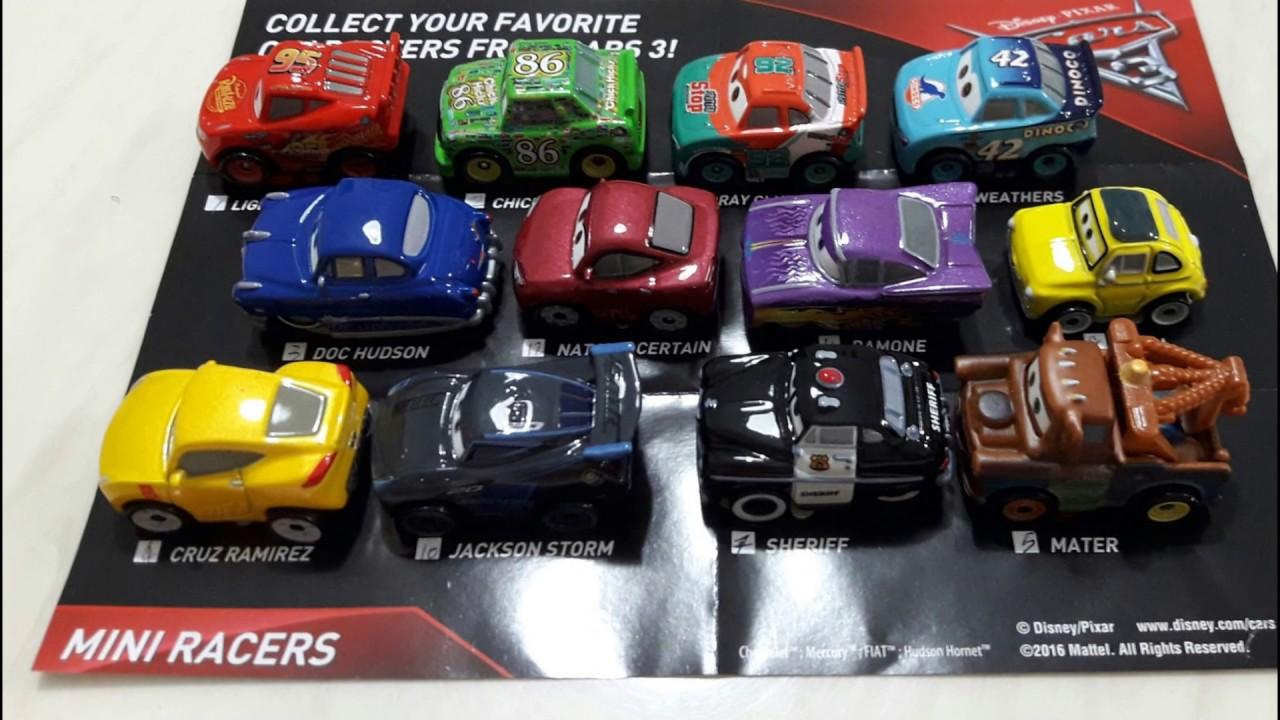 Mattel Disney Cars 3 Mini Racers Blind Bags Code Youtube