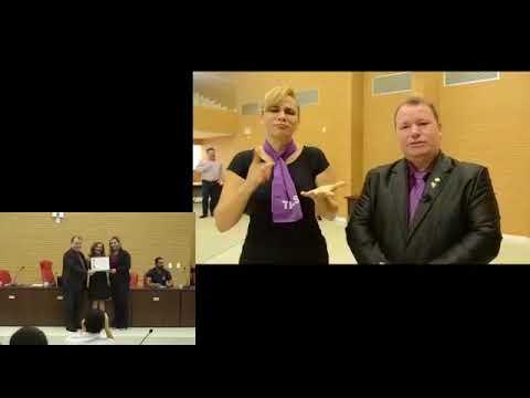 Vídeo: Sessão Solene para entrega de voto de louvor ao Projeto Açaí com Libras