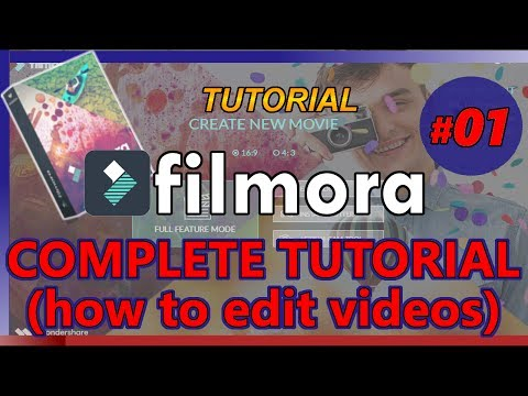 HOW TO USE FILMORA (Tutorial 01: basic video editing for Youtube complete beginners)