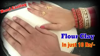 How to make clay at home with flour salt and water  how to make hand impression clay.