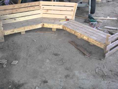 Salon en palette youtube - Construction salon de jardin en palette ...