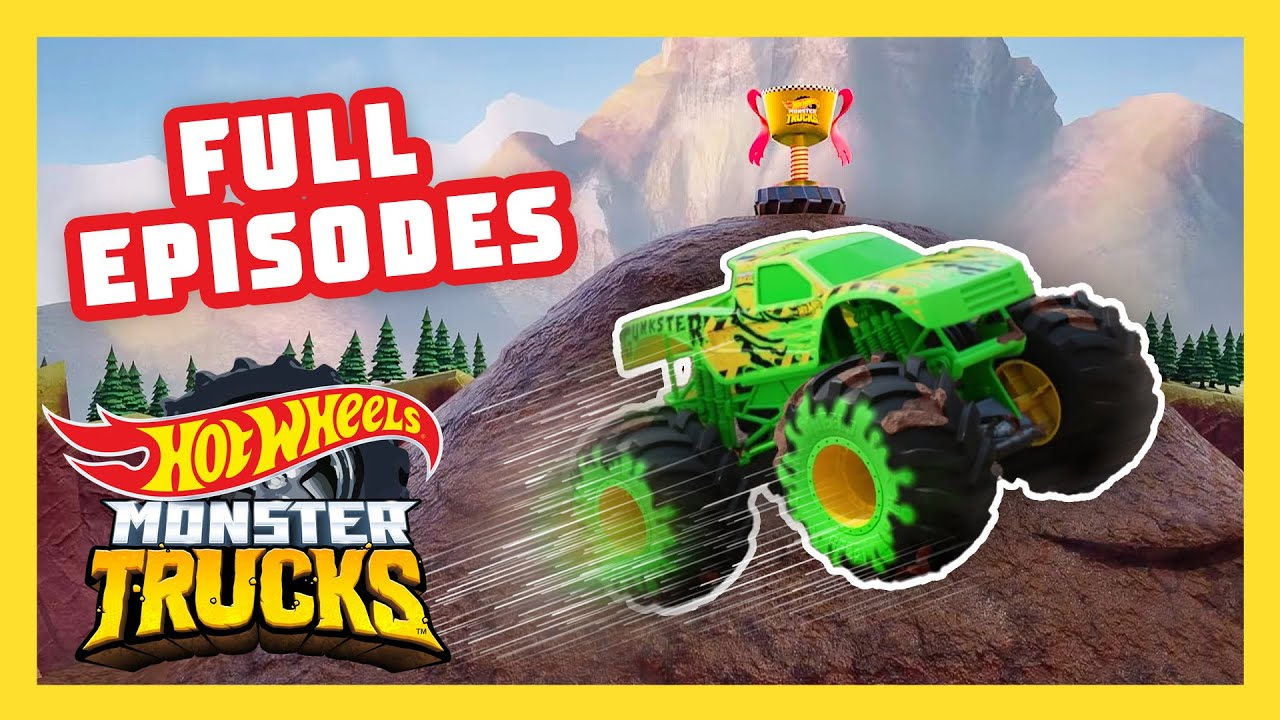 RINGS OF FIRE, MUDSLIDES, AND MORE CHALLENGES! 😵 | Monster Trucks Island | @Hot Wheels