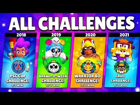 All Challenges Brawl Stars (2018-2021)