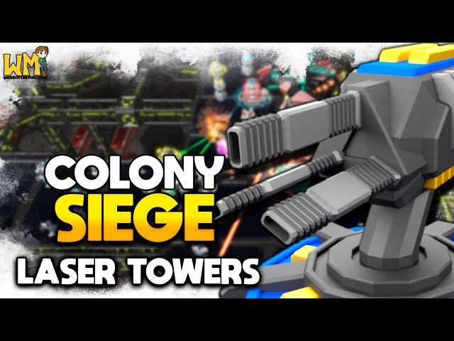 UTILIZANDO LASERS E MELHORANDO AS DEFESAS - Colony Siege #02 - Gameplay PT BR