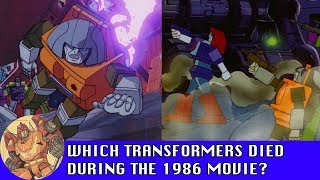 Which Transformers died during Transformers: The Movie?