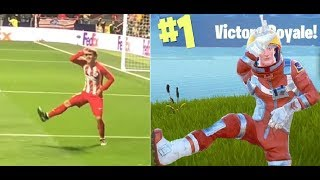 FORTNITE DANCES IN REAL LIFE ft. GRIEZMANN ( INSANE DANCE MOVES)