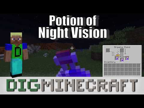How to make a Potion of Night Vision (8:00) in Minecraft